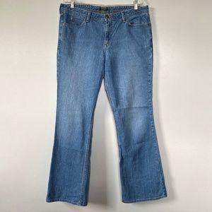 Eddie Bauer Womens Jeans Size 14 High Rise Denim